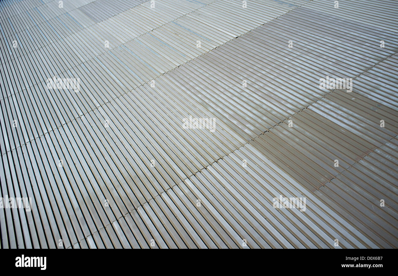 Wall made of corrugated galvanized iron sheets ( CGI ) Stock Photo
