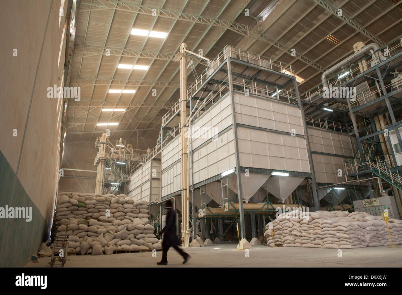 Machinery at a commodities warehouse in Dodoma, Tanzania, East Africa. - Stock Image