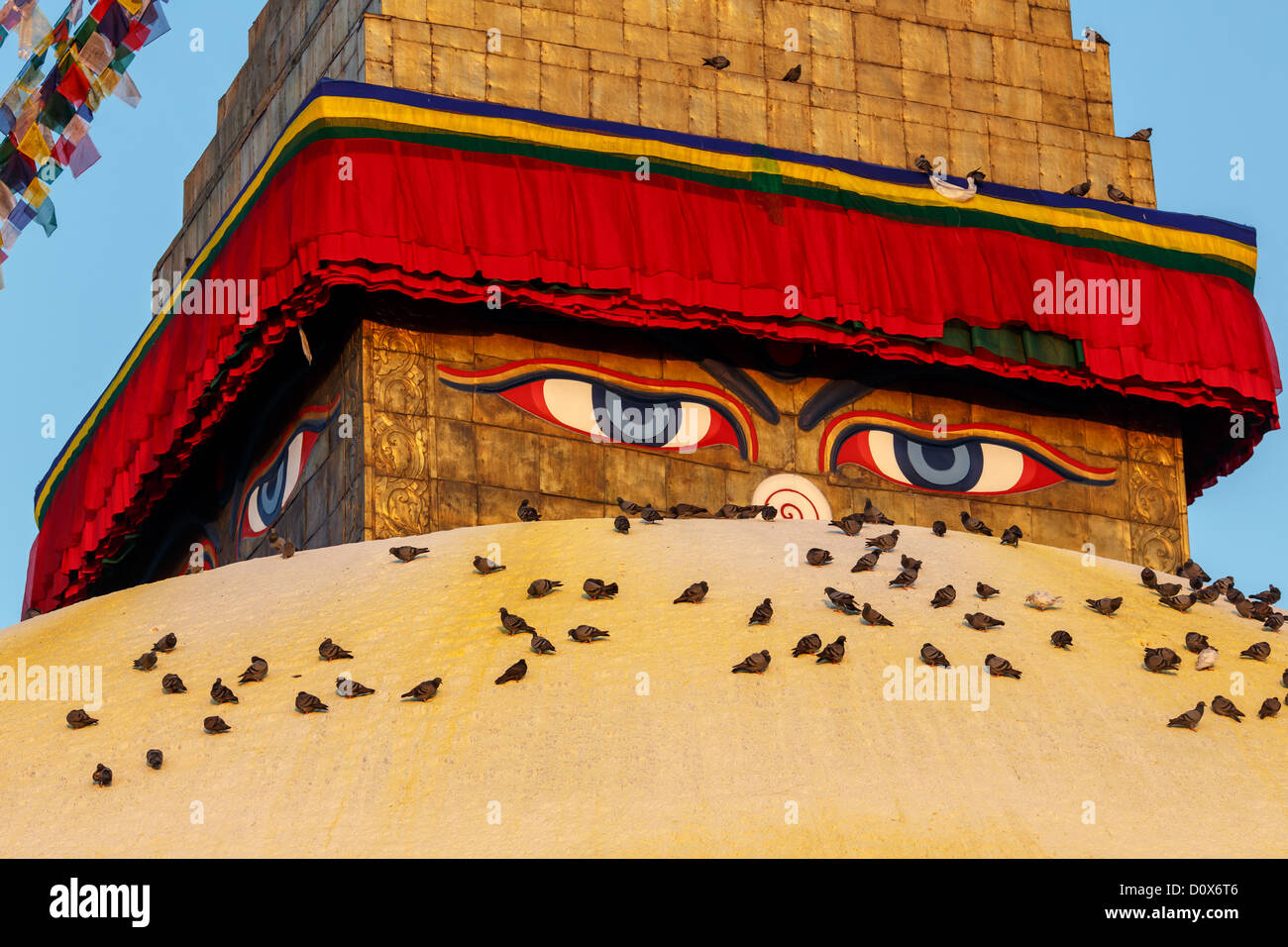 Boudhanath Stupa, Kathmandu, Kathmandu Valley, UNESCO World Heritage Site, Nepal - Stock Image