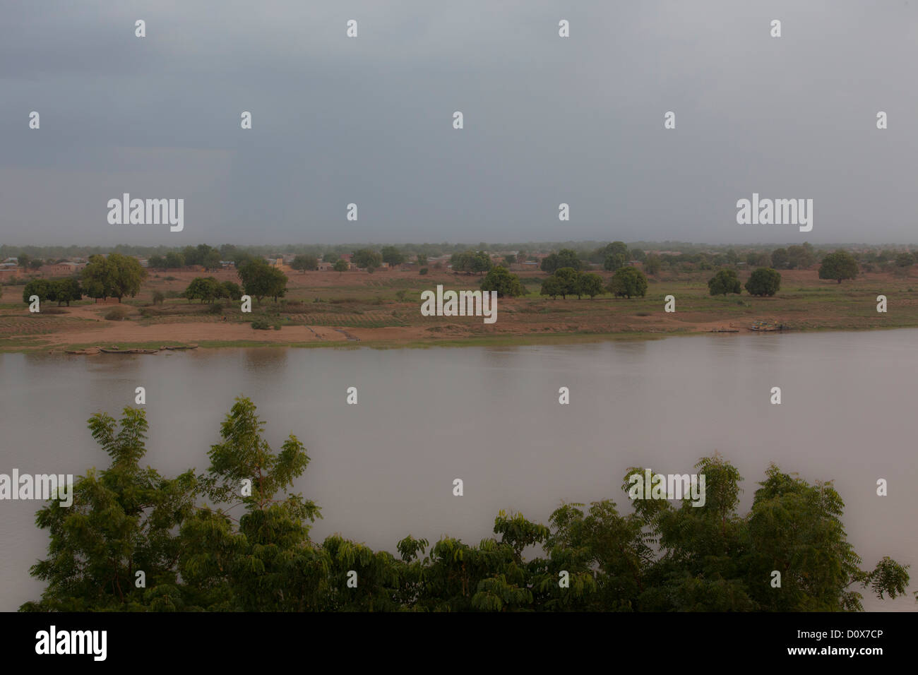 The Chari River near N'djamena, Chad, Africa. - Stock Image