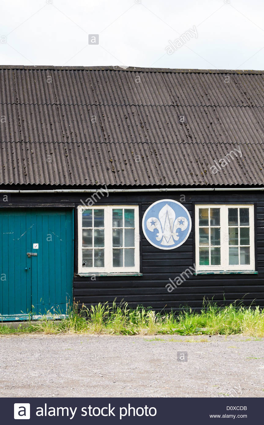 Scout hut, Blandford, Dorset England - Stock Image