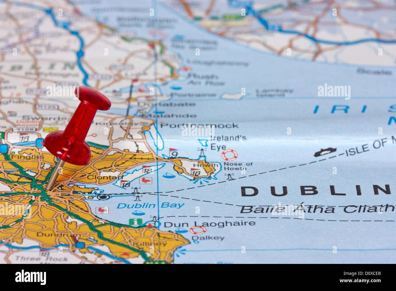 Map pin pointing dublin ireland stock photos map pin pointing pushpin pointing location of dublin on the map stock image gumiabroncs Gallery