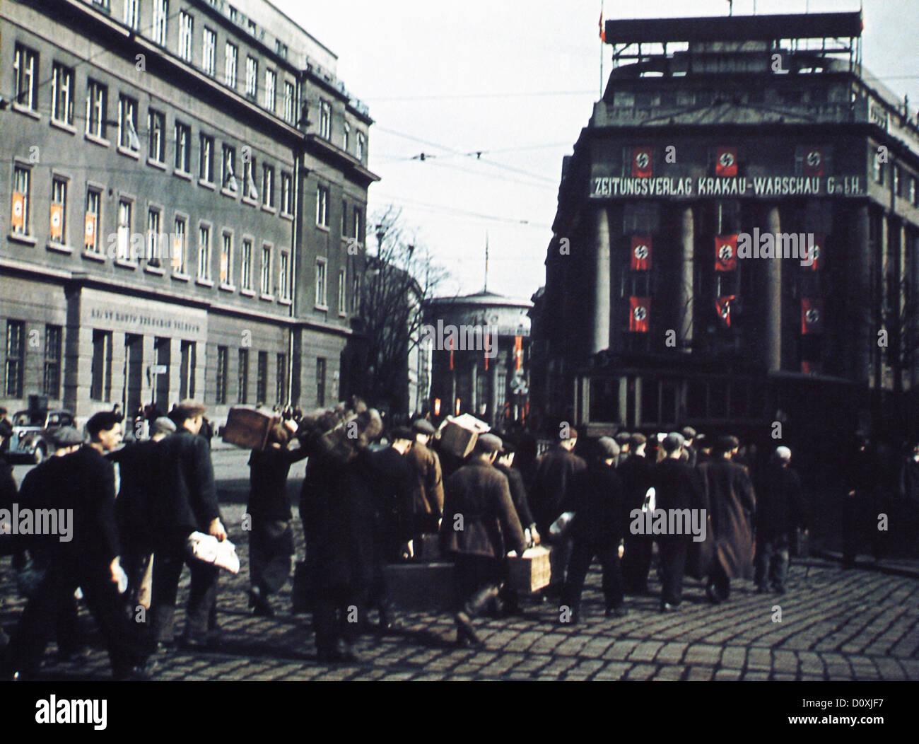 General Government, Zeitungsverlag Krakau-Warschau GmbH, publishing house, Warschauer Zeitung, German, paper, Poland, - Stock Image