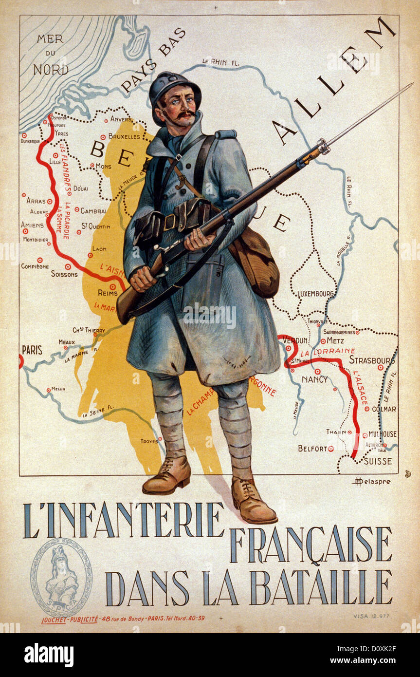 Map Of France Poster.France World War I French Propaganda Poster Soldier Gun Rifle