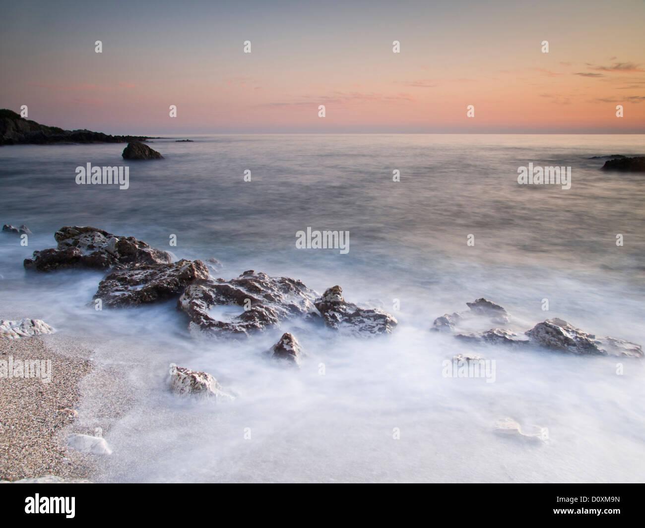 Kargicak, Mahmutlar, Anatolia, Asia, Asia Minor, Turkey, Mediterranean Sea, Mediterranean, maritime, sea, blue, - Stock Image