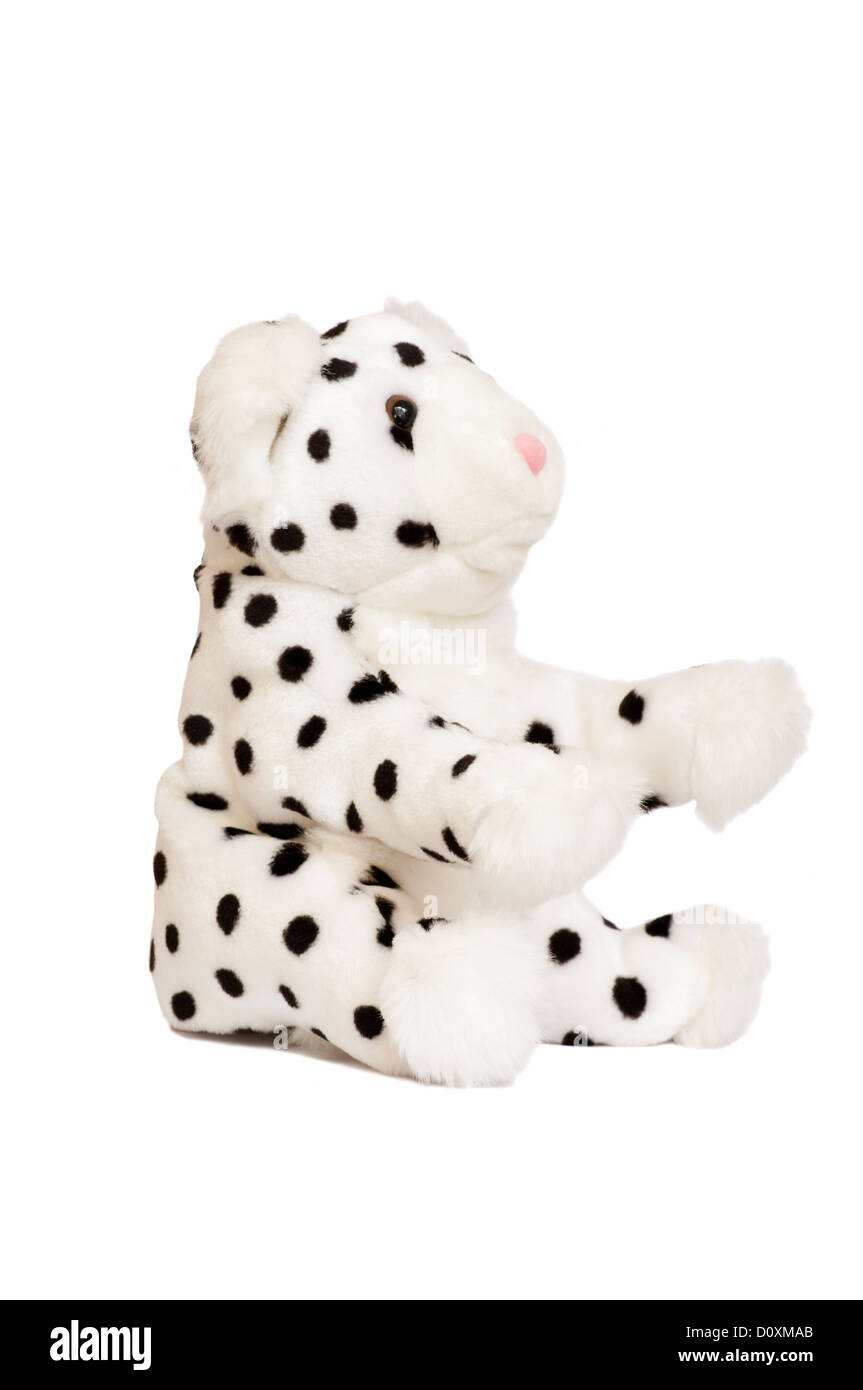 Childs Dalmation Dog Childrens Cuddly Soft Toy - Stock Image
