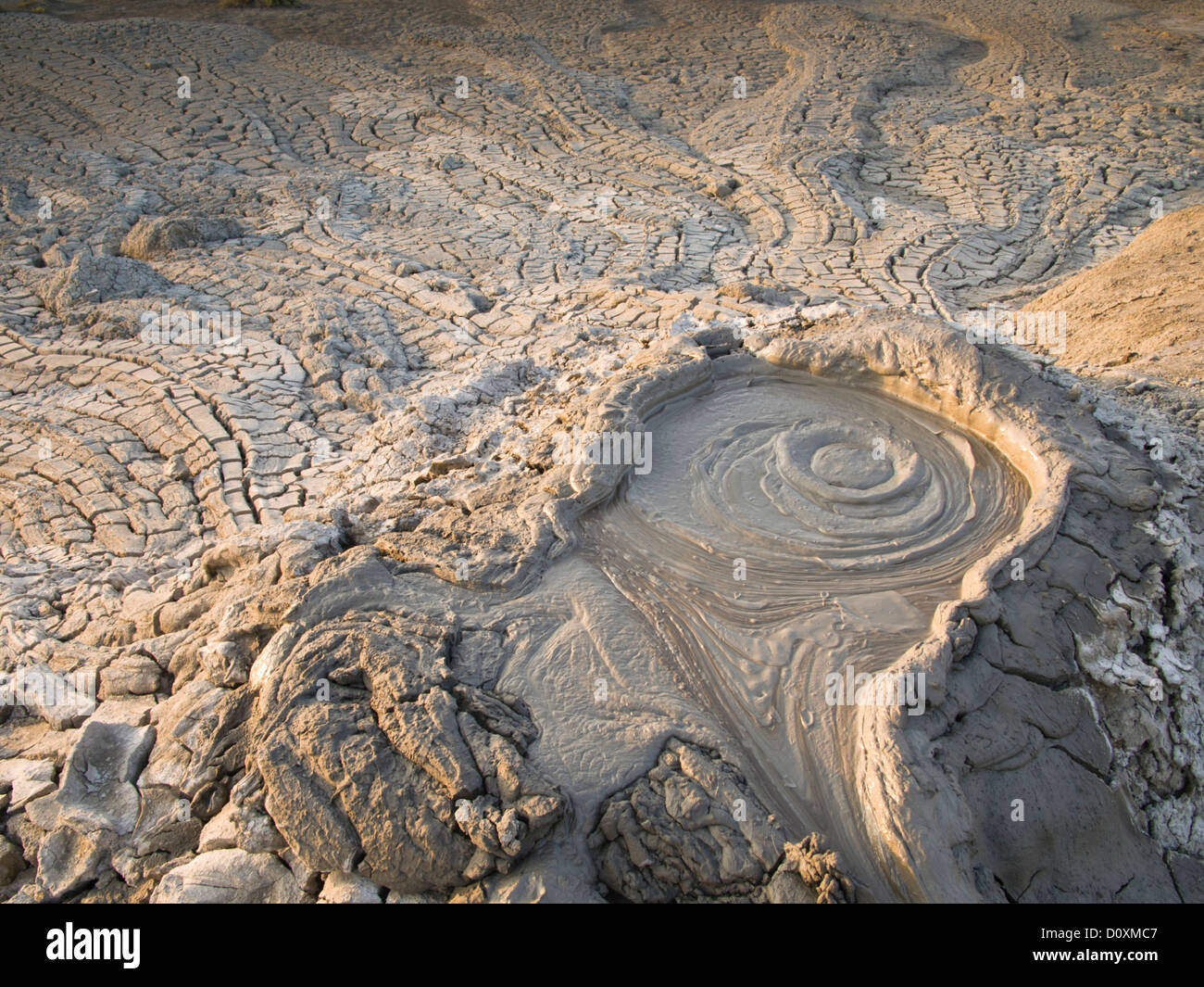 Azerbaijan, East, Asia, Caucasus, Quobustan, mud volcano, liquidly, mud, slime, slushy, mud hole, mud holes, volcano, Stock Photo
