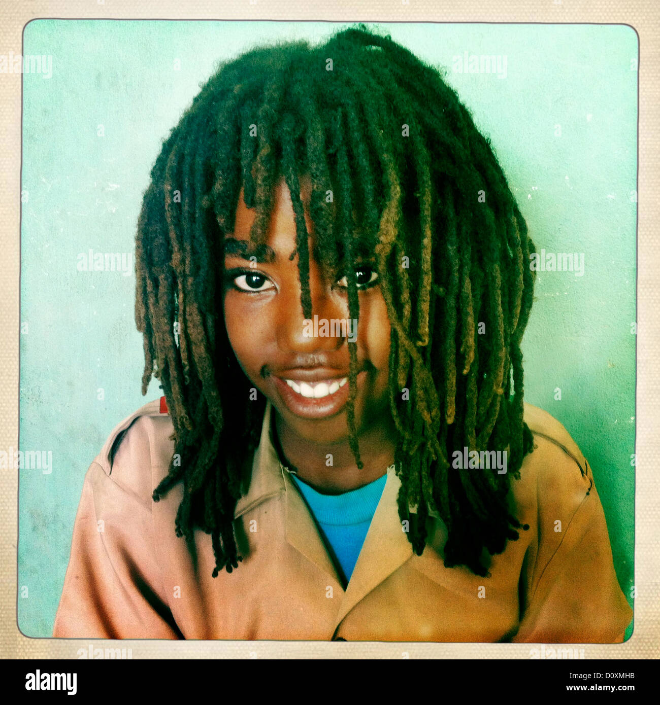 portrait of a rasta boy in shashemene jamaican school oromia region