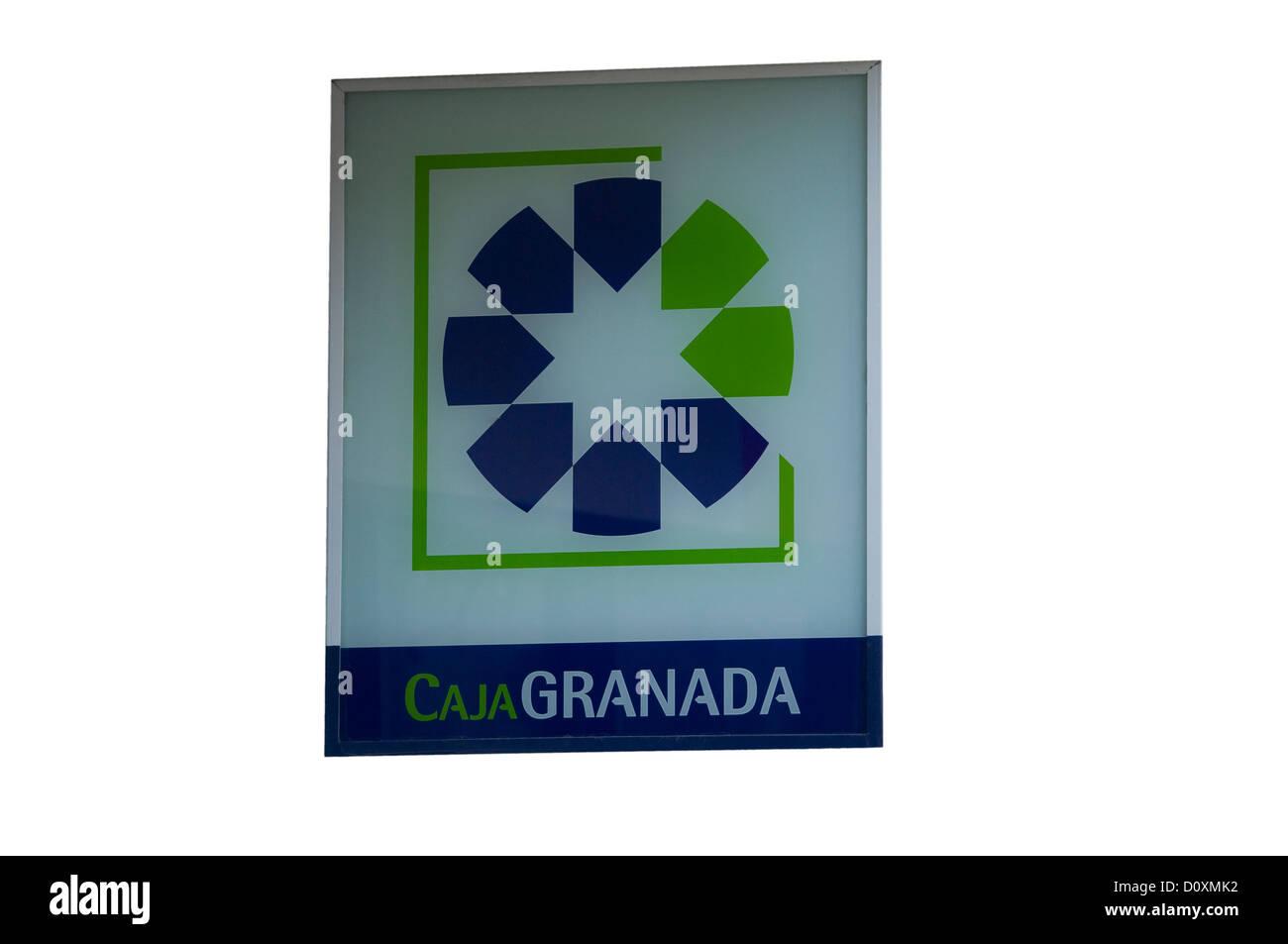 Caja Granada (Bank) Sign Spain - Stock Image