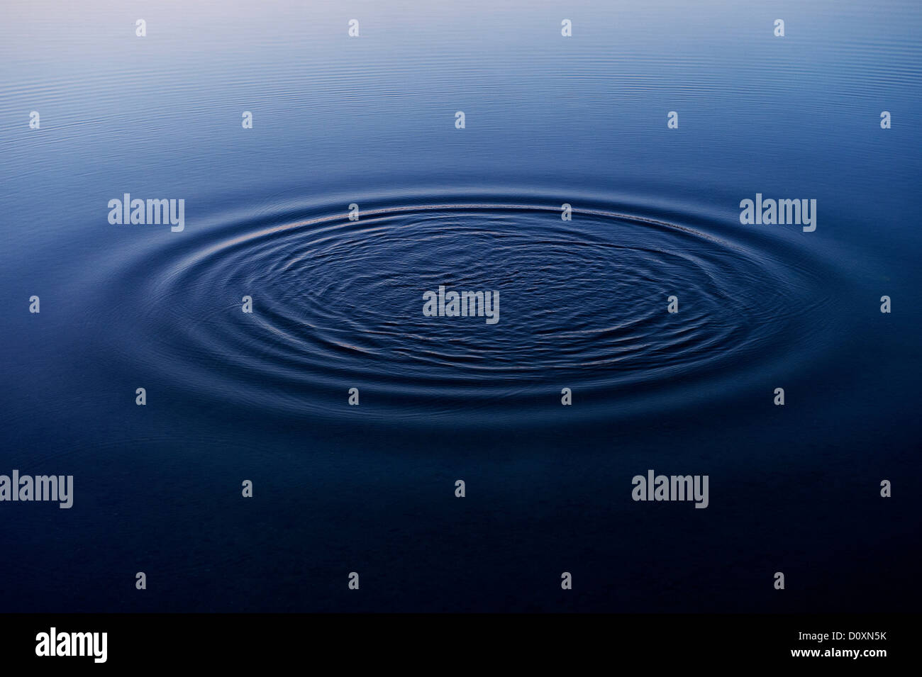 Ripples in water of lake - Stock Image