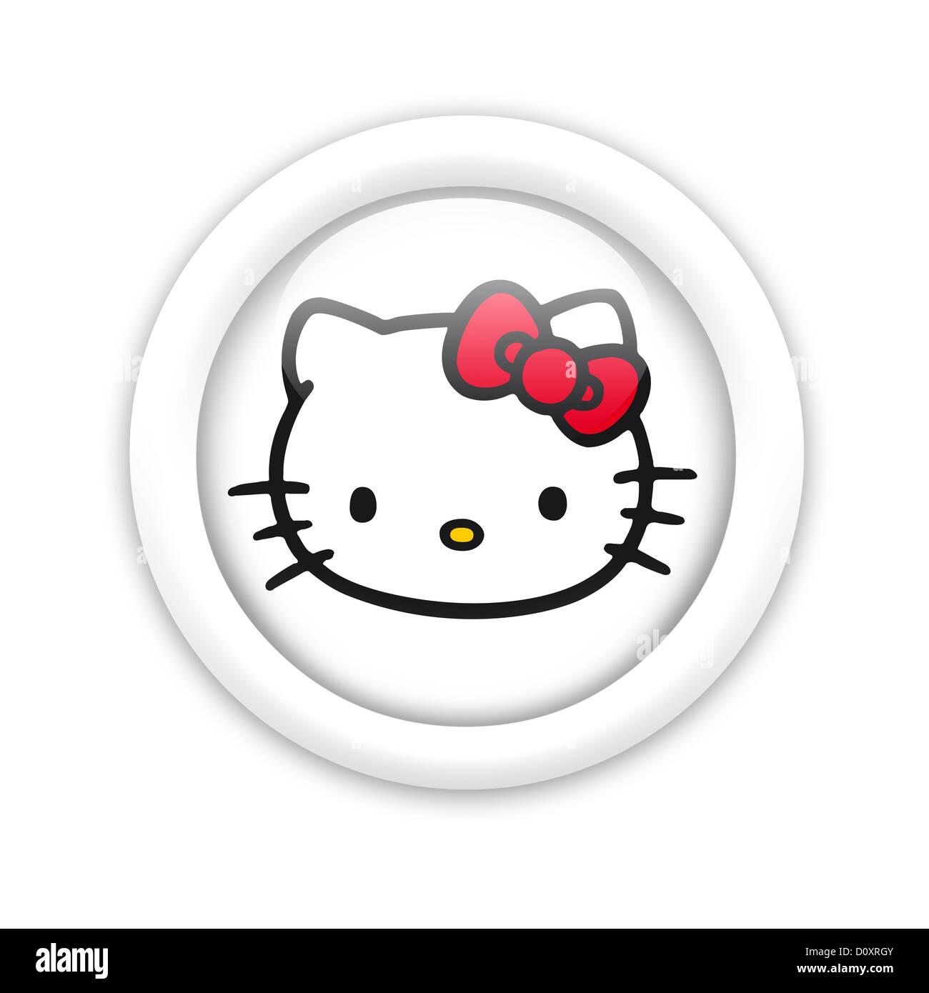 Hello Kitty Symbol Logo Icon Stock Photos Hello Kitty Symbol Logo