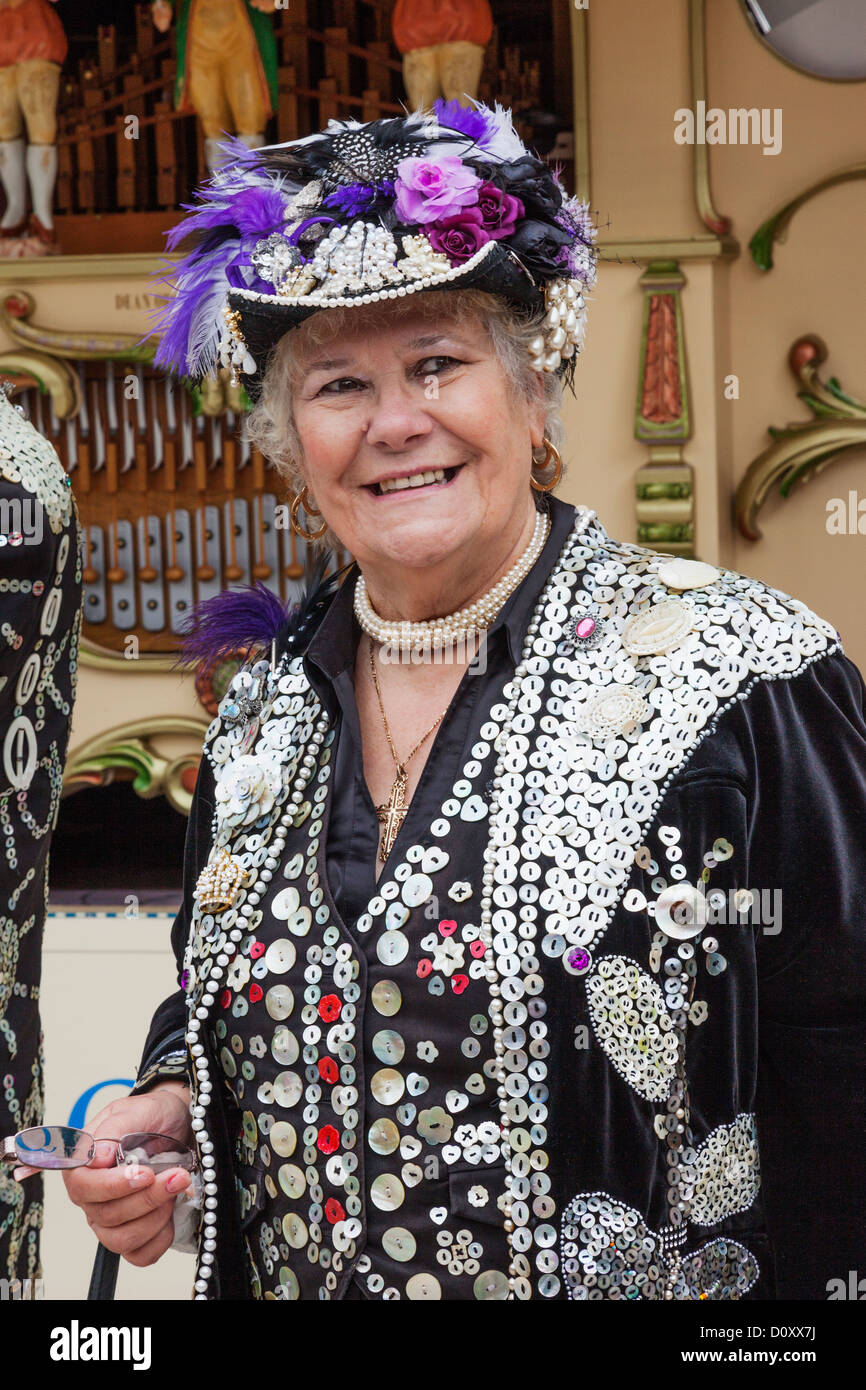 England, London, Pearly Queen - Stock Image