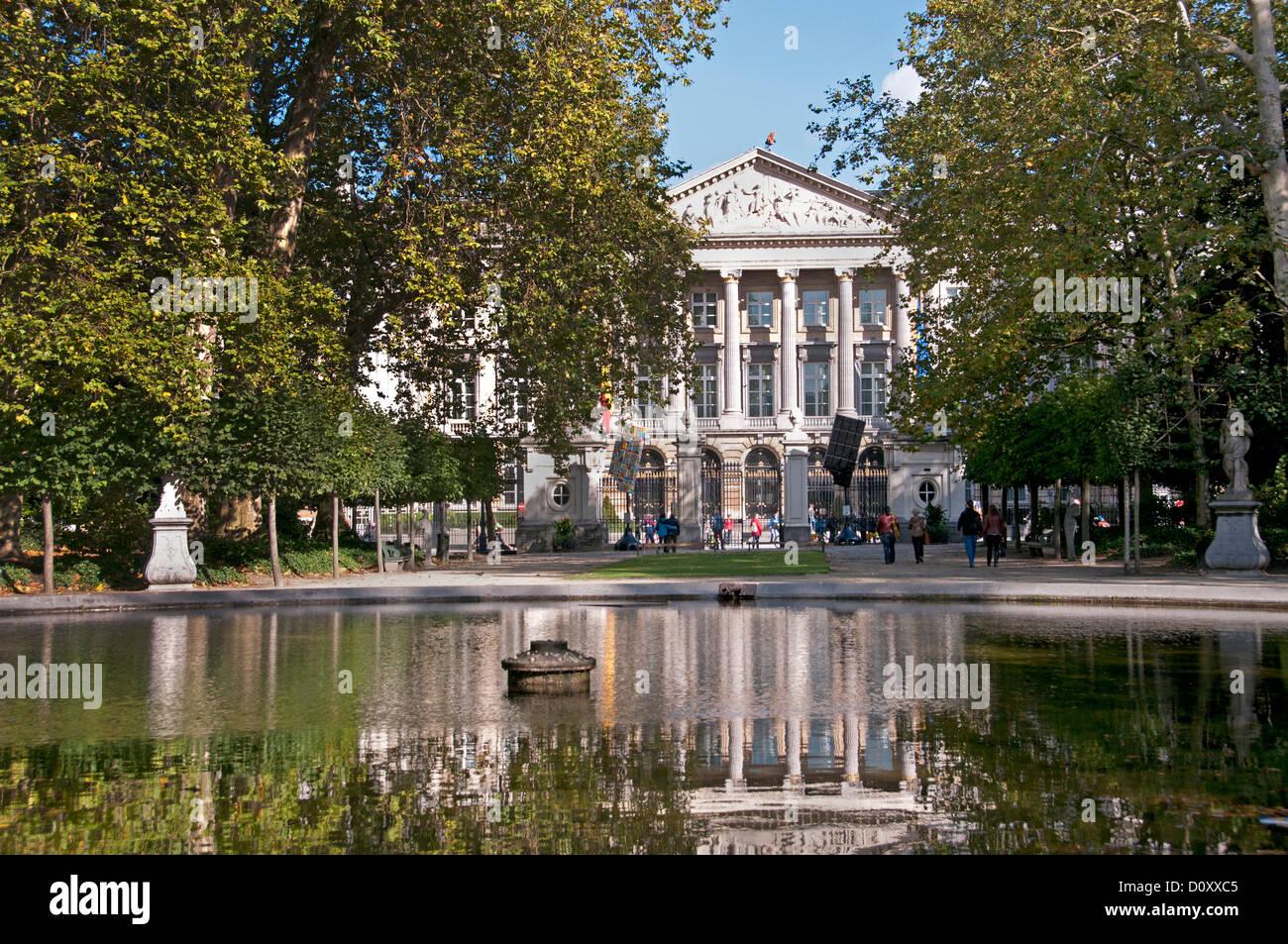Palais de la Nation or The Palace of the Nation ( Royal Park ) Brussels Belgium - Stock Image