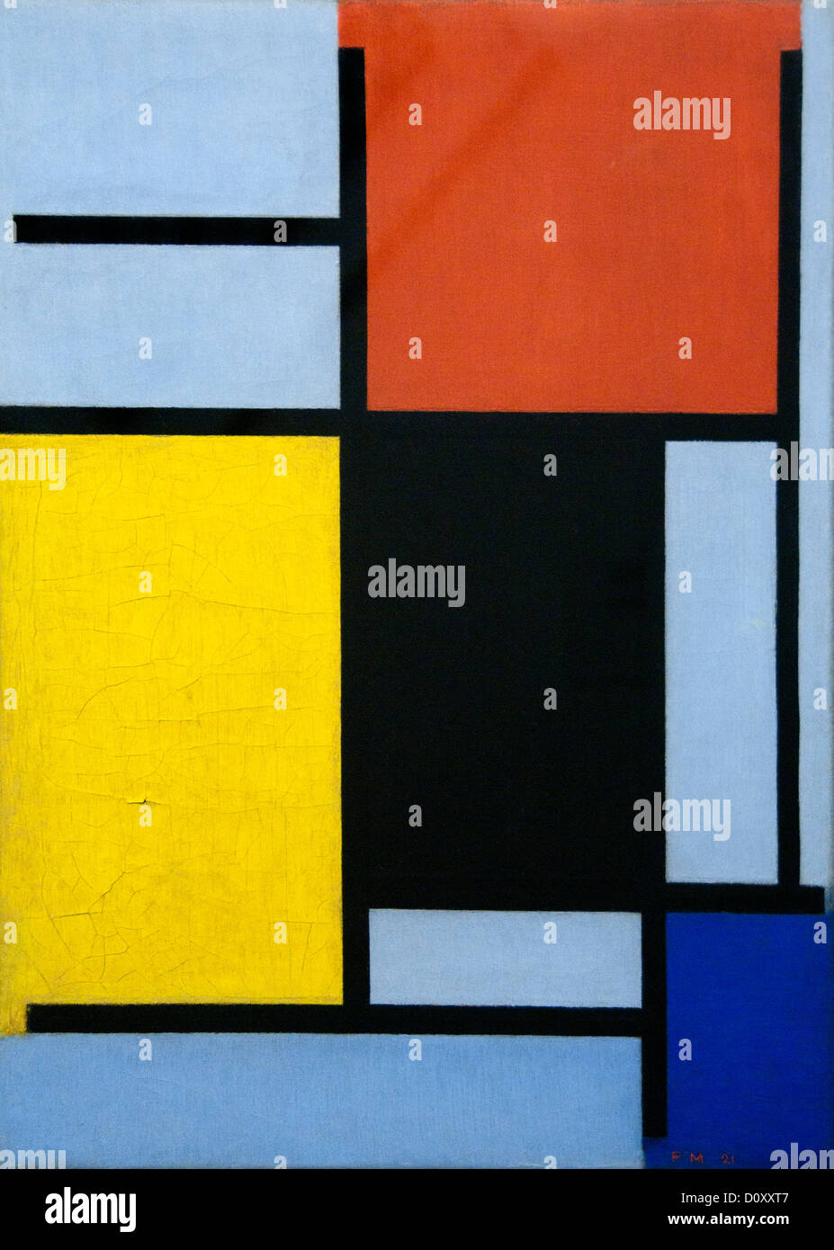 Composition Blue Yellow Piet Mondrian Stock Photos & Composition ...
