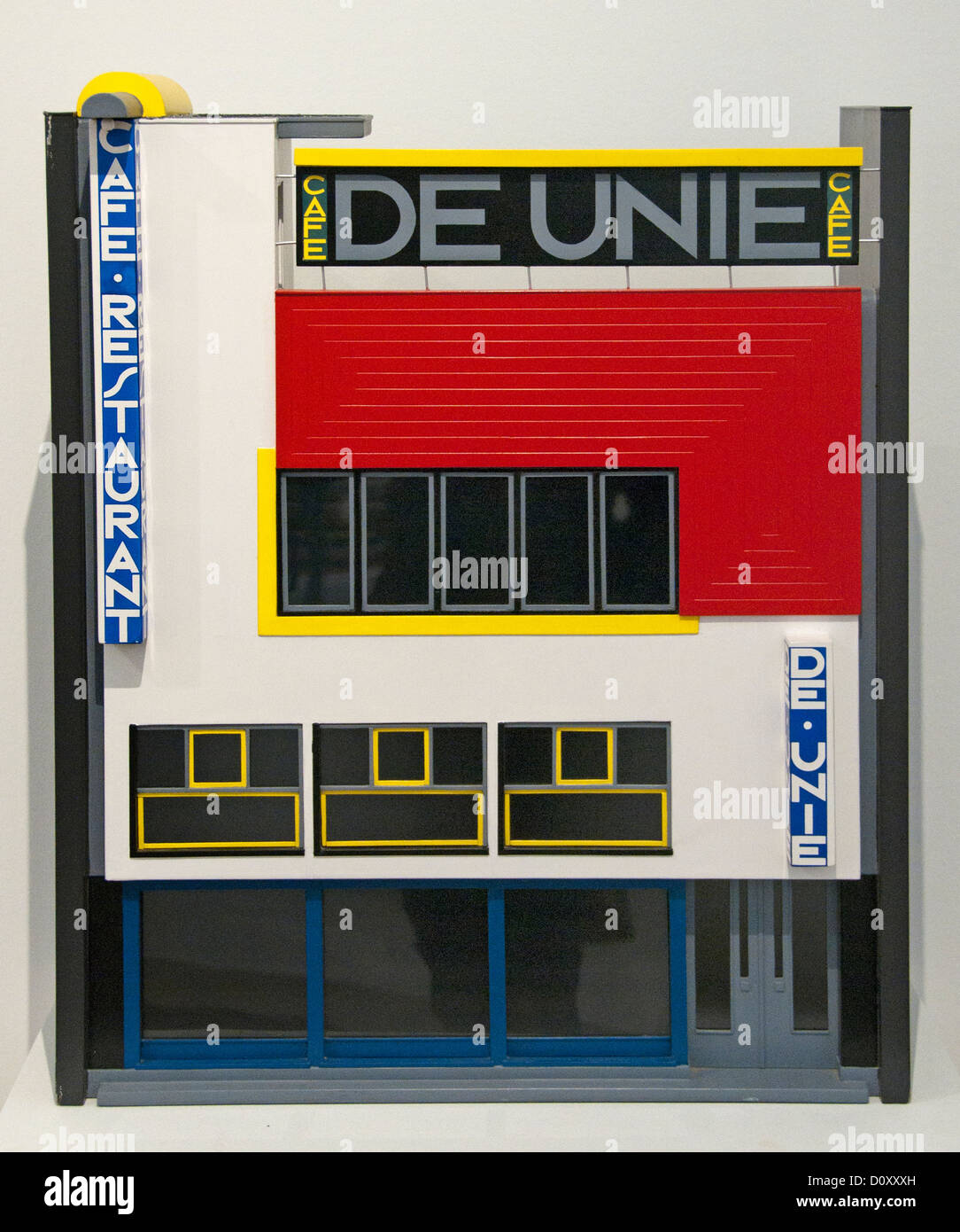 Maquette for the Unie in Rotterdam 1924 J.J.P.Oud Dutch Netherlands Stock Photo
