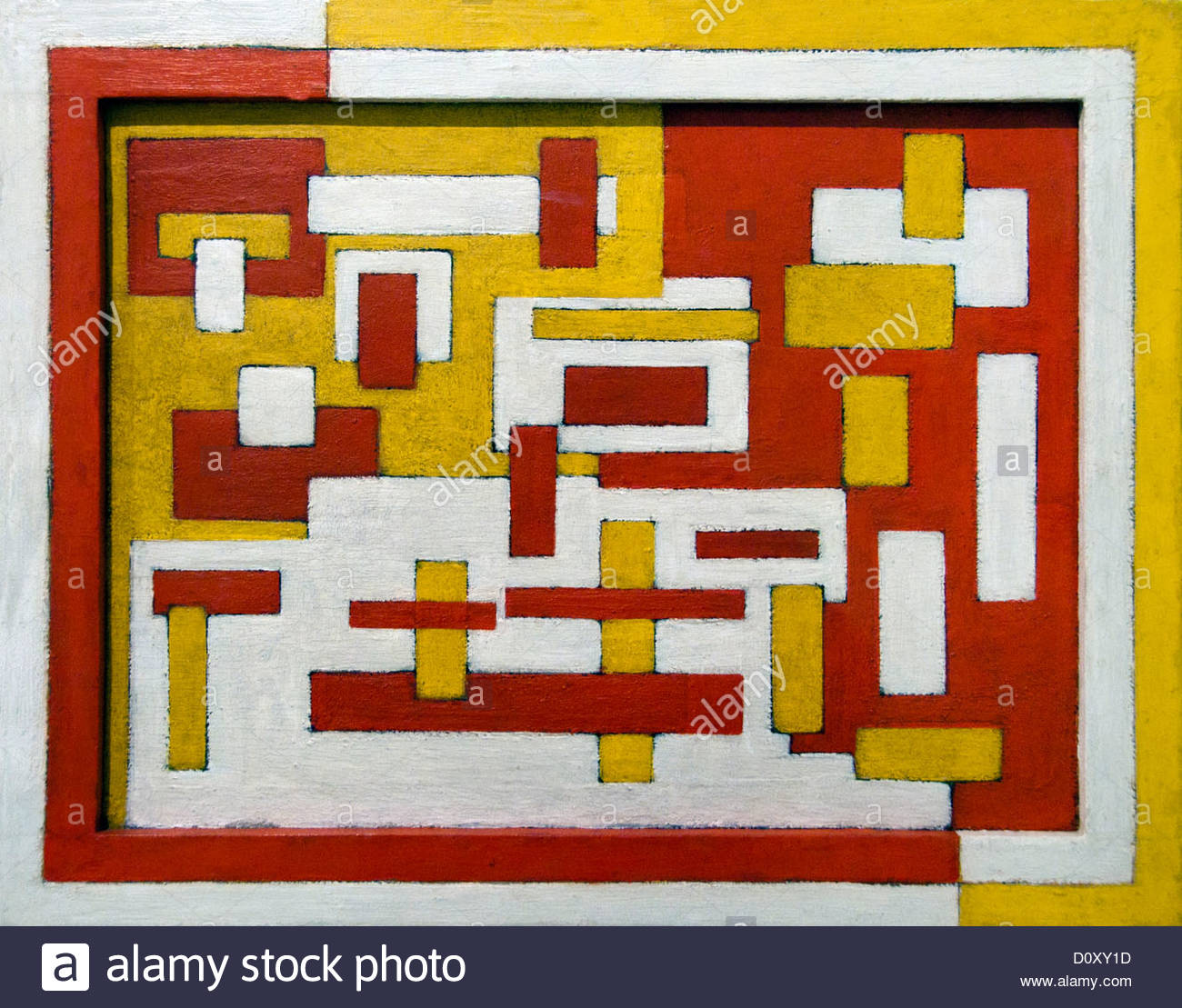 Composition  Hammer and Saw  1917 by Vilmos Huszar Hungary Hungarian Painter - Stock Image