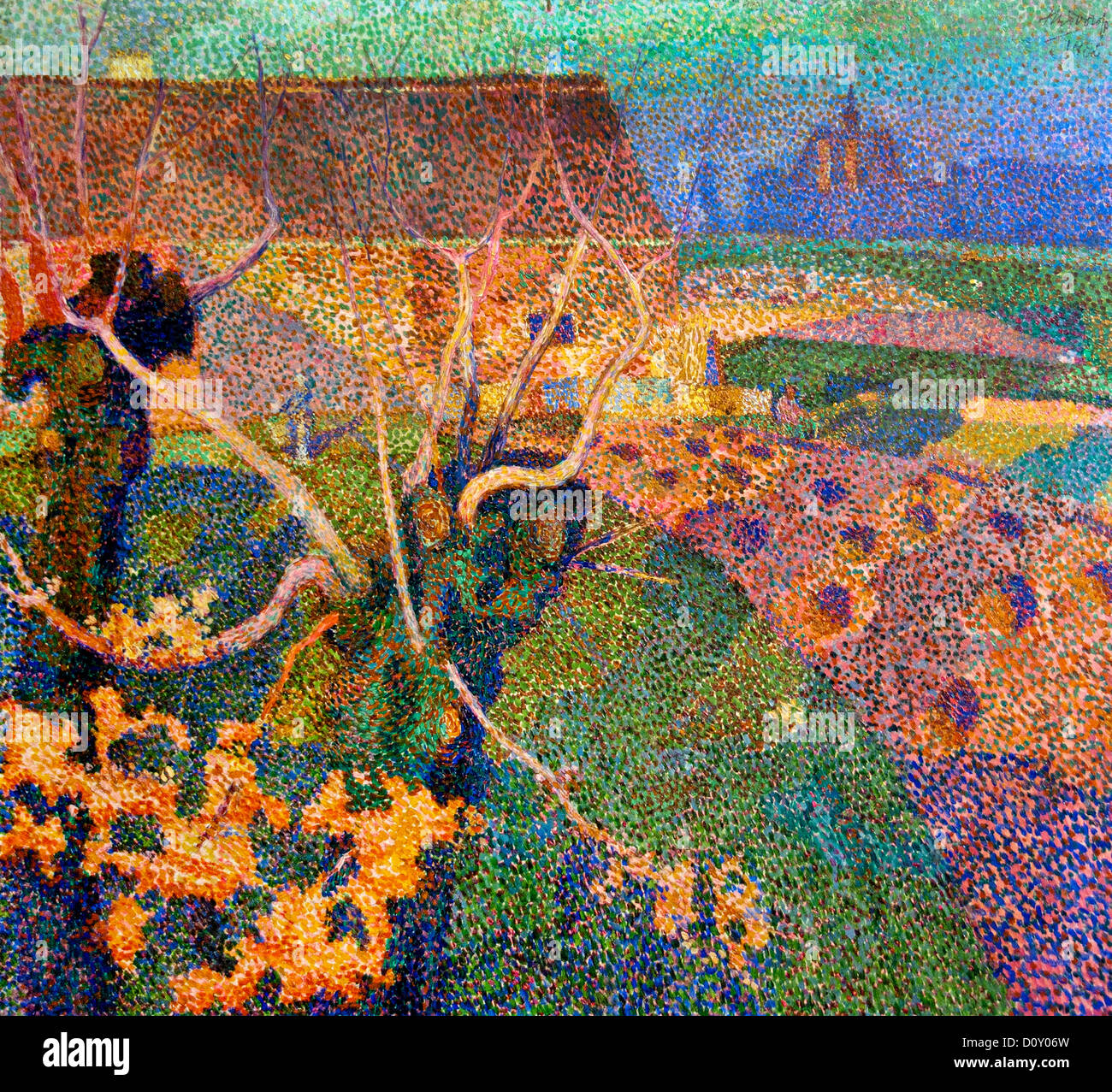 November afternoon ( Willows ) 1886 Jan Toorop 1858-1928 Dutch Netherlands - Stock Image