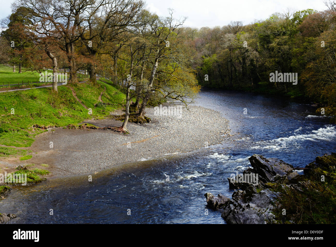 River Lune at Kirby Lonsdale - Stock Image