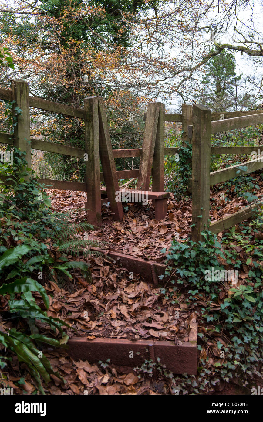Cockington Devon England November 30th 2013 A Country Stile And