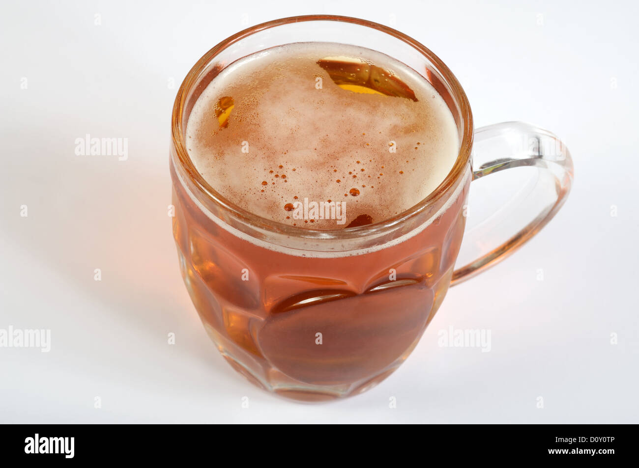 Pint of beer - Stock Image