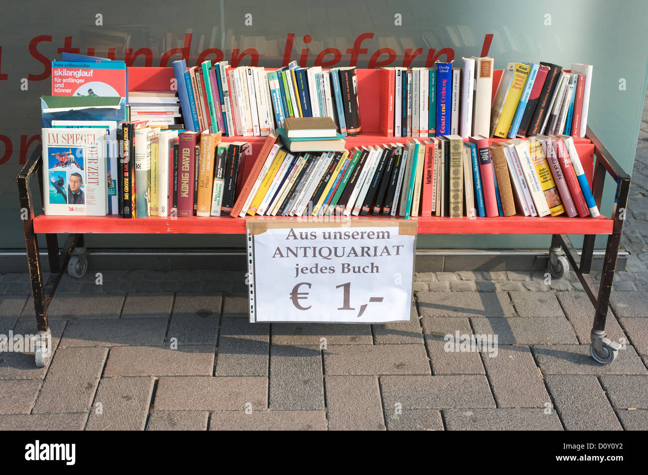 Secondhand books for sale Stock Photo