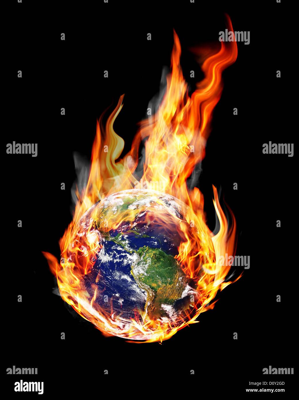 globe fire - Stock Image