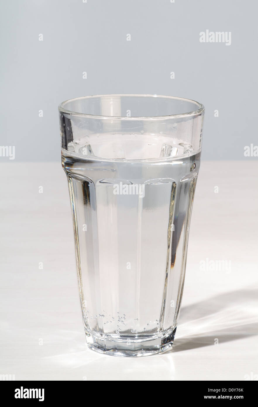 Hamburg, Germany, a glass of water - Stock Image