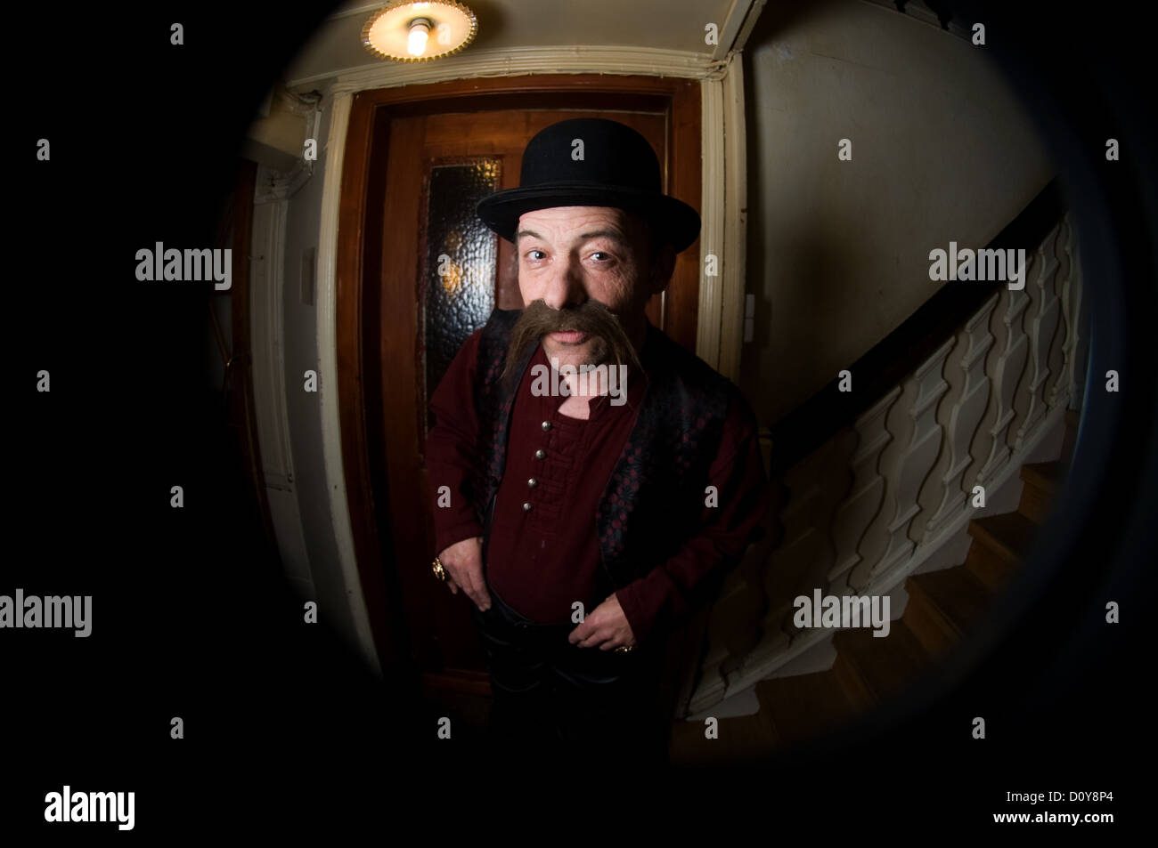 Freiburg, Germany, crafty man is coming up - Stock Image
