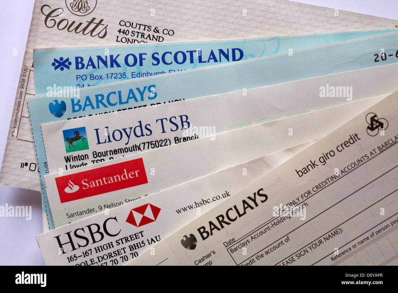Cheques Stock Photos & Cheques Stock Images - Alamy