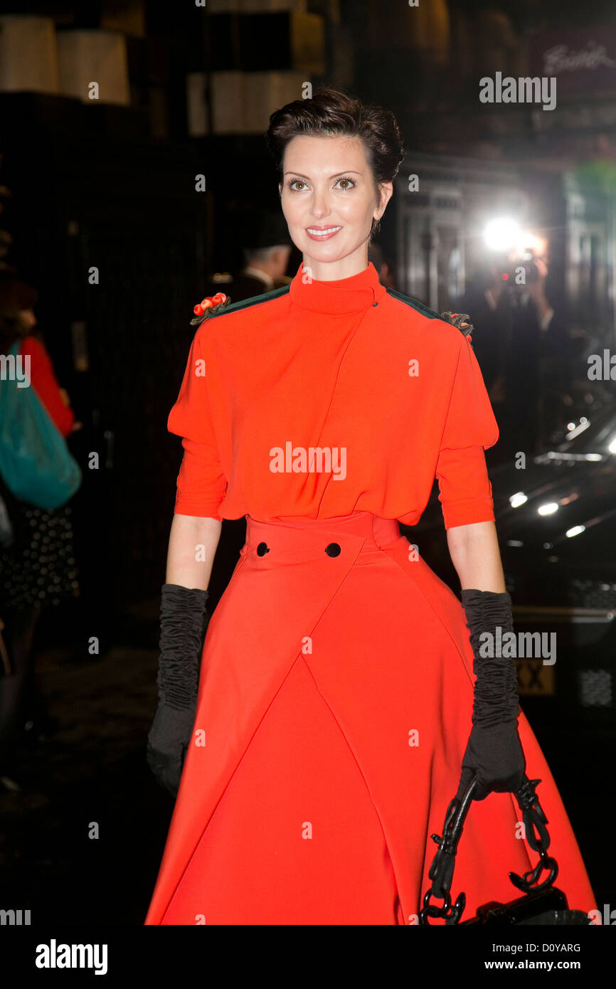 Guest was attending the British Fashion Awards 2012 at the Savoy Hotel, the Strand London - Stock Image
