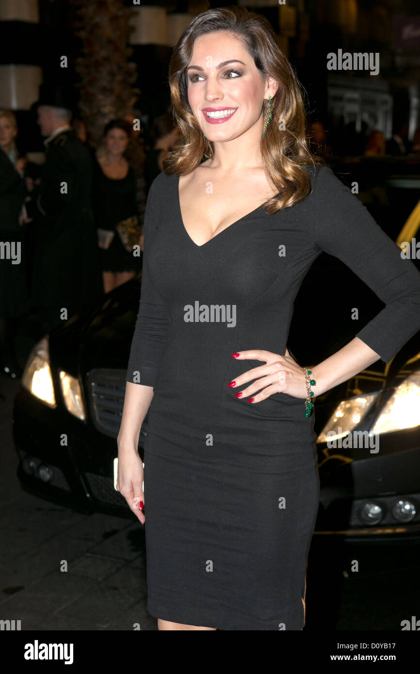 Kelly Brook was attending the British Fashion Awards 2012 at the Savoy Hotel, the Strand London, 27/11/2012 - Stock Image