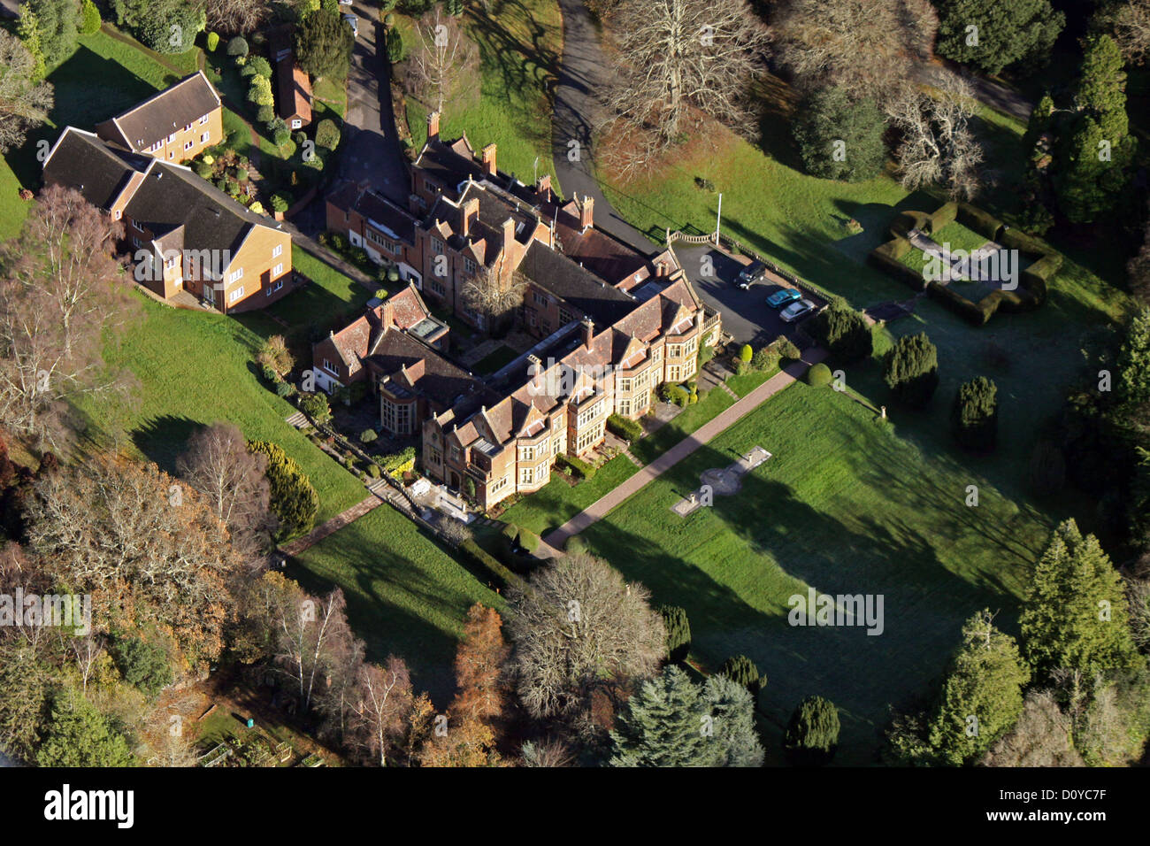 large country house in Sidmouth, Devon - Stock Image