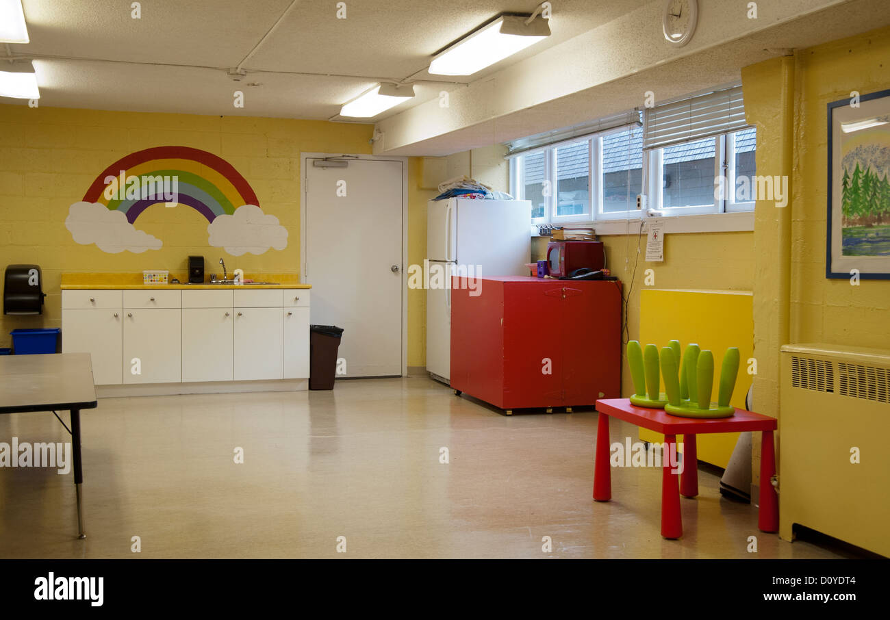 Empty daycare interior for children Stock Photo