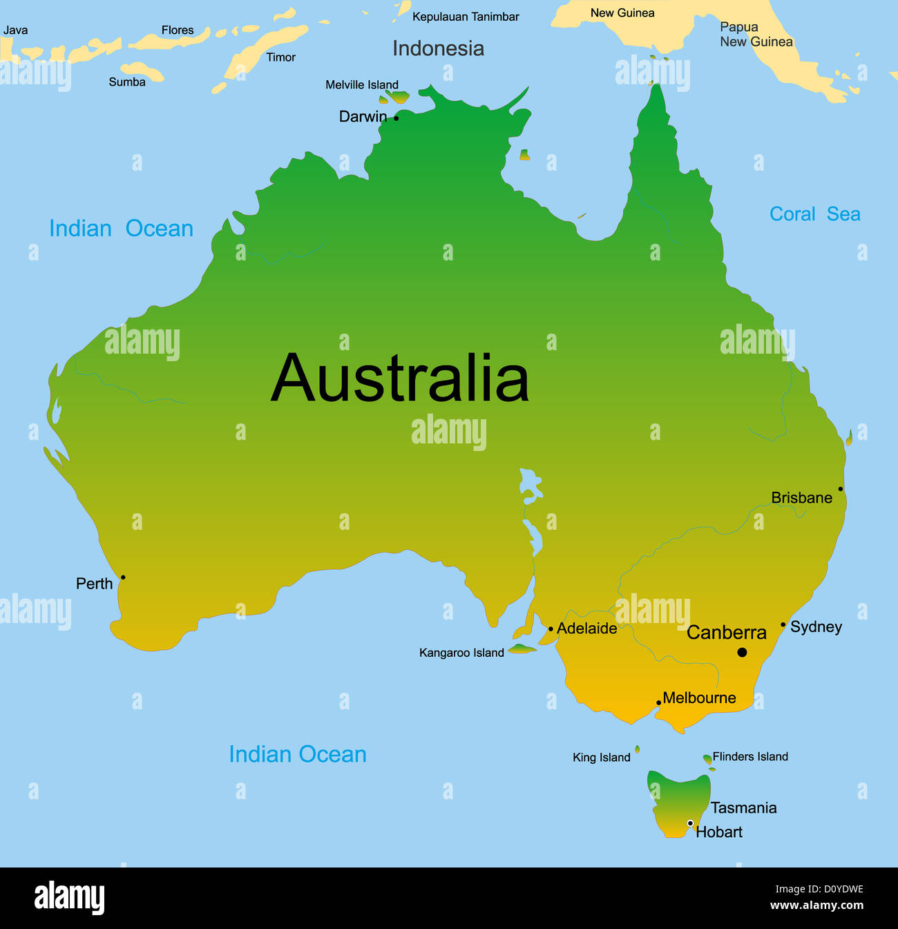 map of australian continent stock photo 52234714 alamy