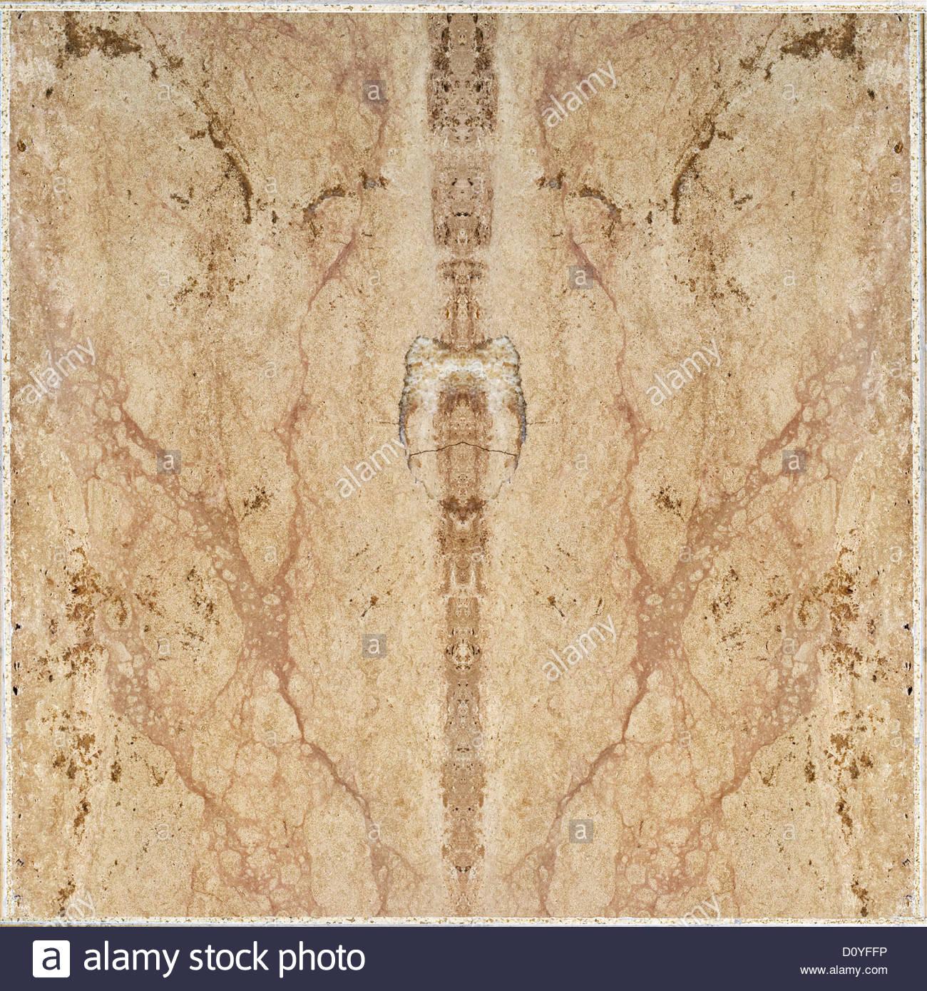Brown ceramic floor tiles wall texture - Stock Image