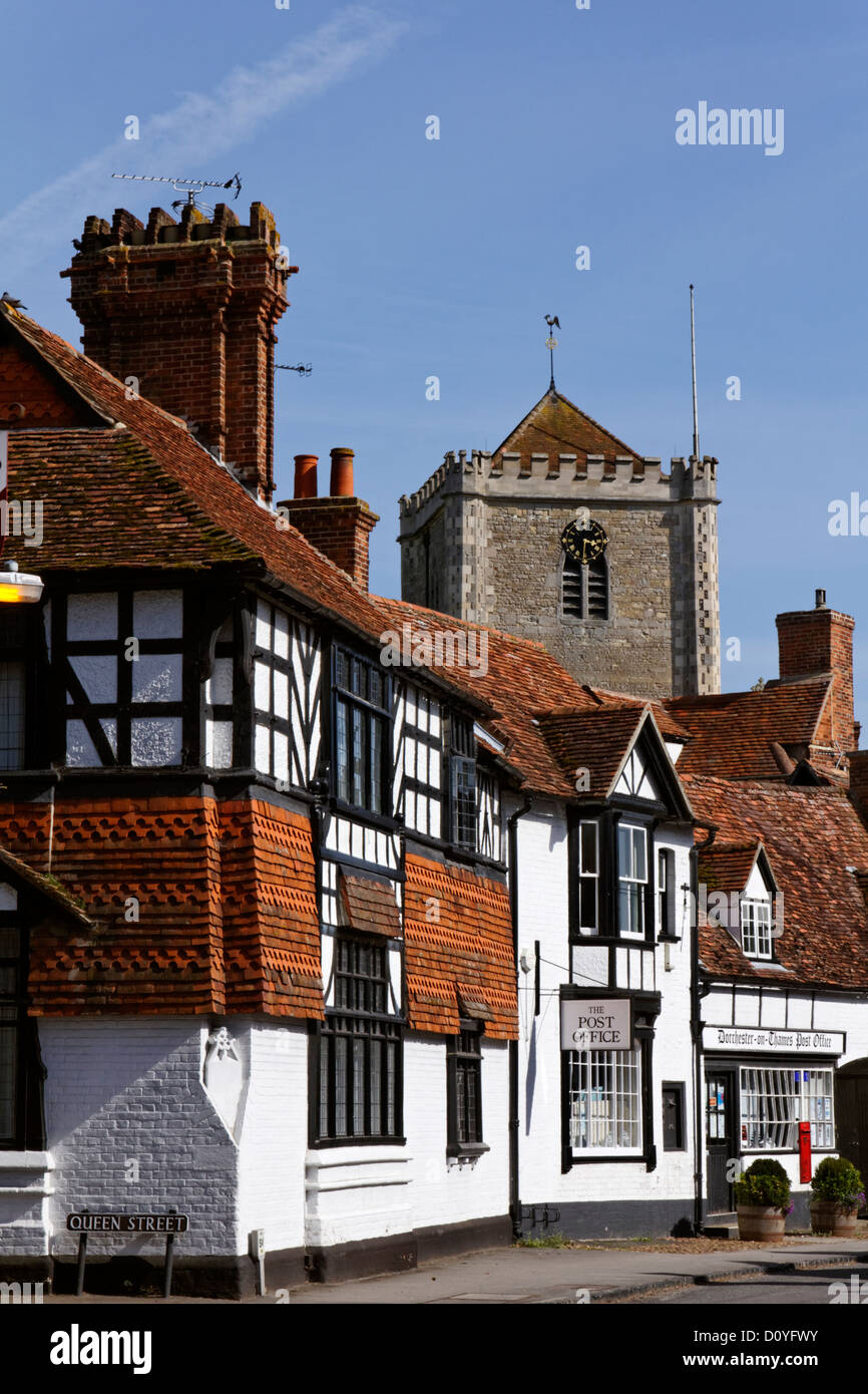 The High Street, Dorchester-On-Thames, Oxfordshire, England - Stock Image