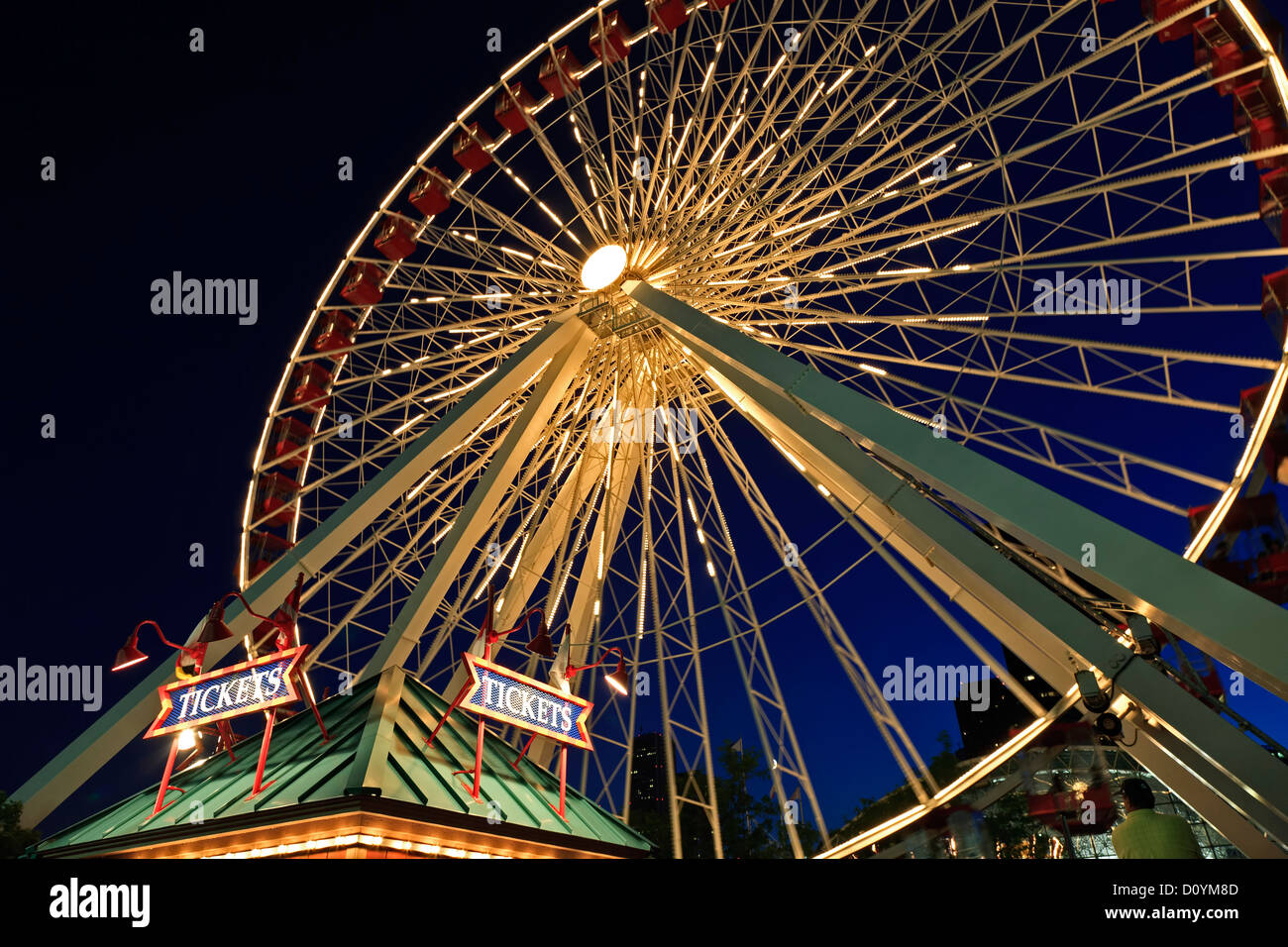 Ferris wheel, Navy Pier, Chicago, Illinois USA - Stock Image