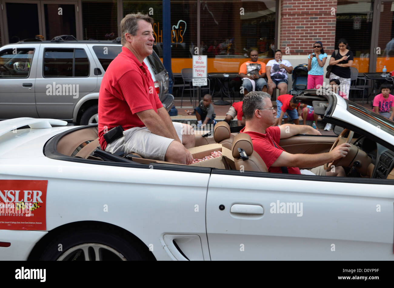 Doug Gansler Maryland attorney general and , Md governor candidate in parade - Stock Image