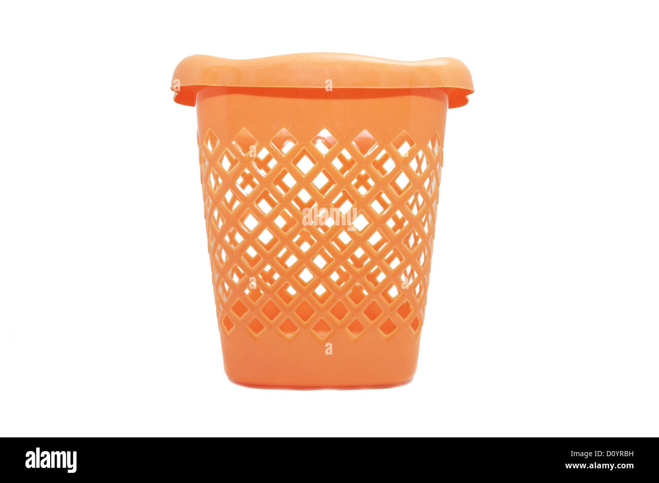 Plastic trash can - Stock Image