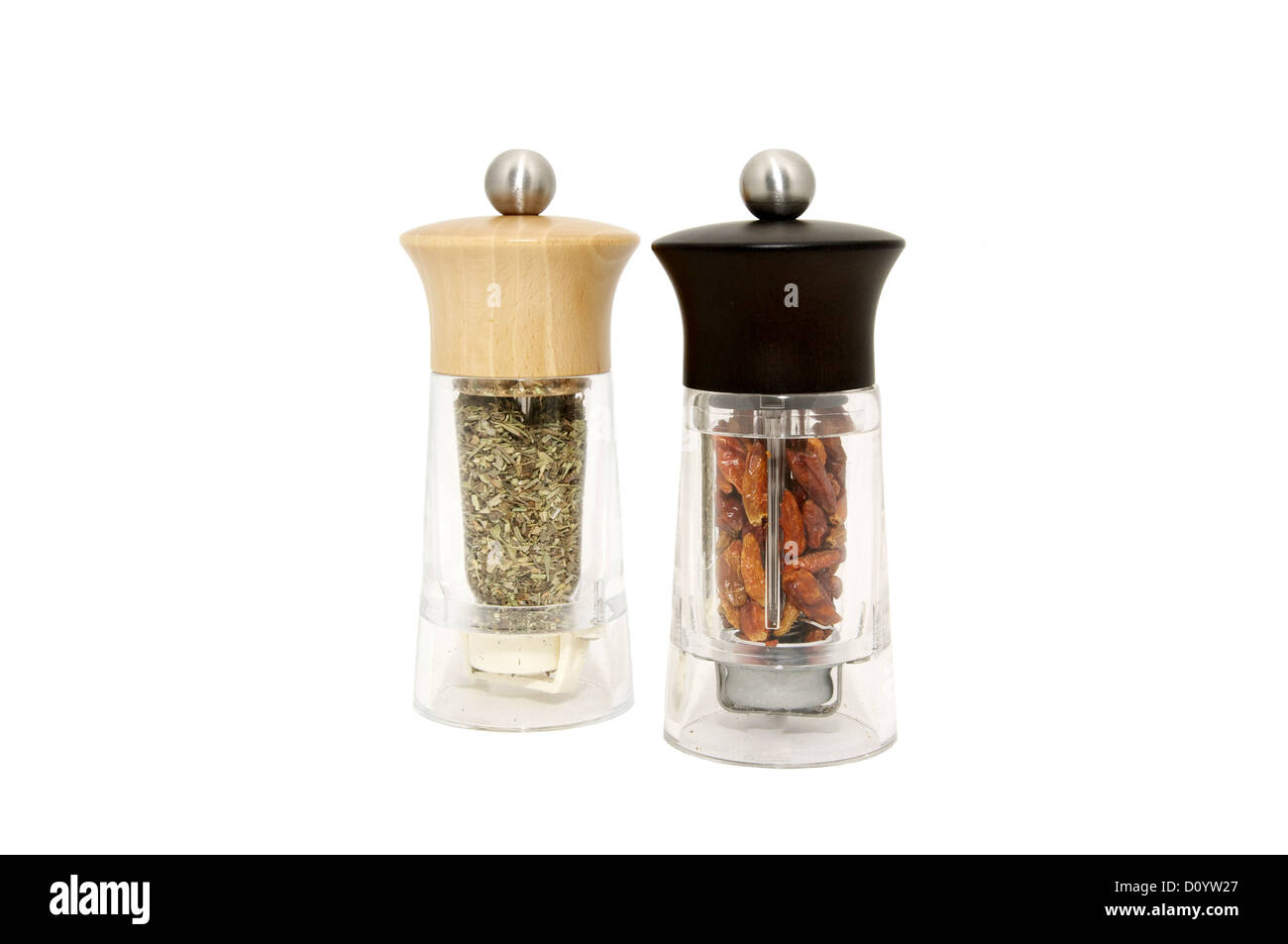 two mills for the spice - Stock Image