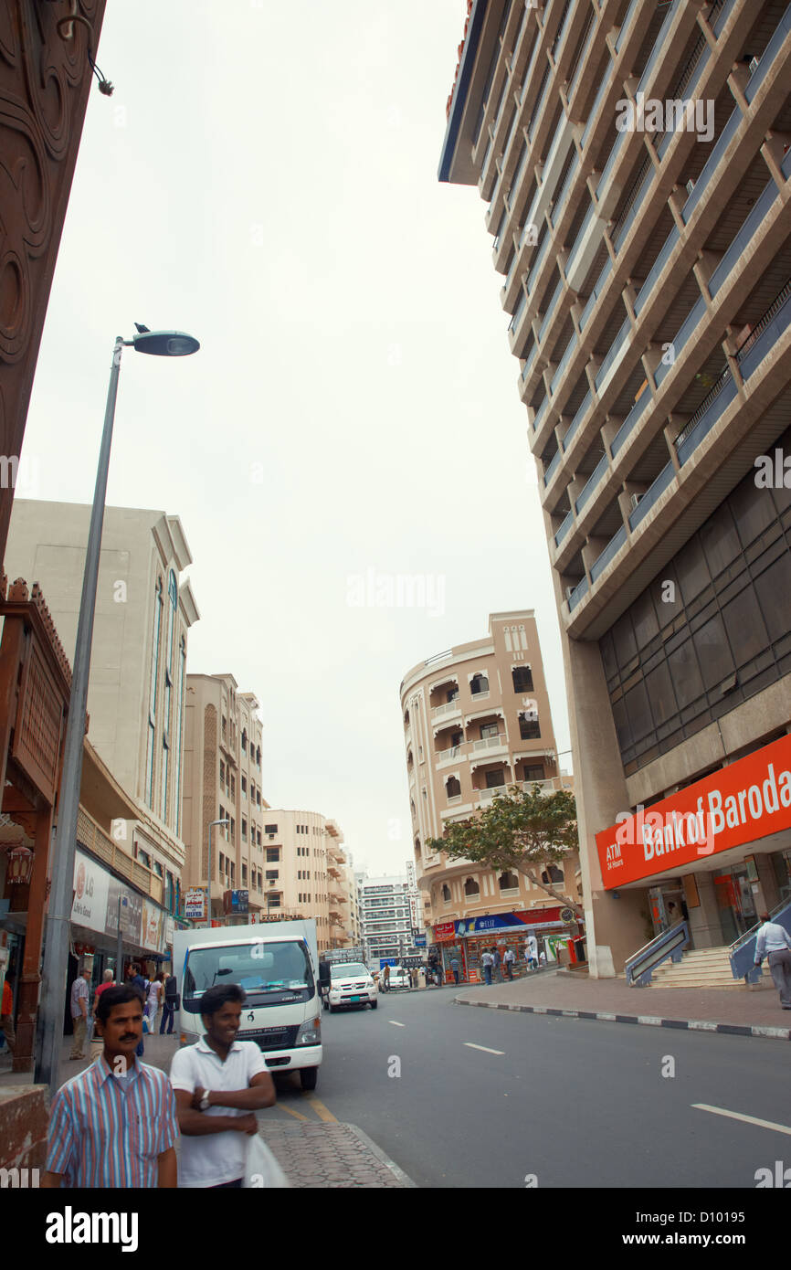 Editorial photo of the Bank of Baroda in Dubai, United Arab Emirates - Stock Image