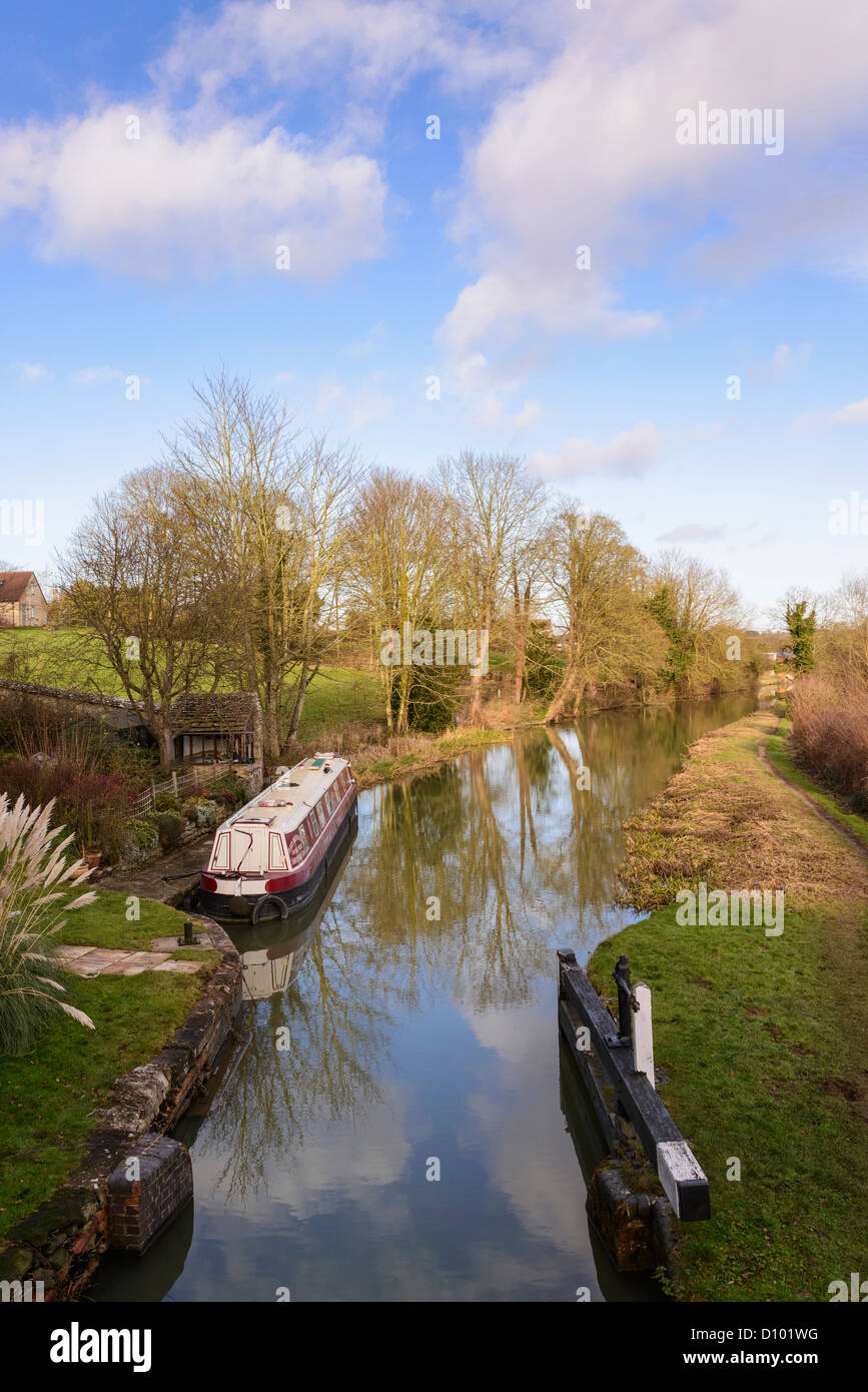 Oxford Canal near Shipton-on-Cherwell Oxfordshire England UK - Stock Image