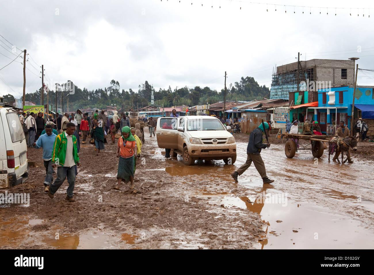 Rainy season in the town of Bore, Oromia Region, Ethiopia - Stock Image