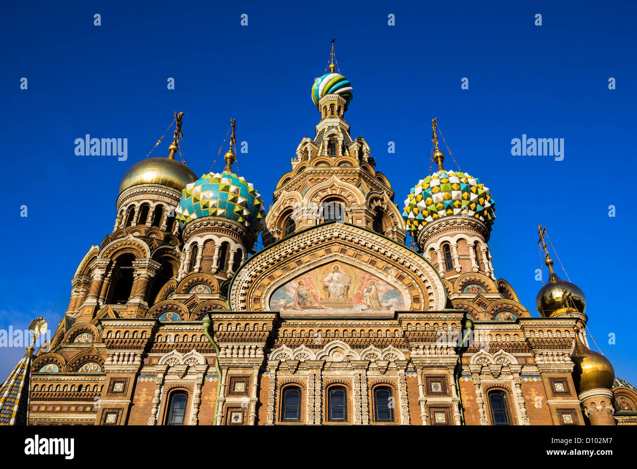 Church of the Savior on Blood, St Petersburg, Russia - Stock Image