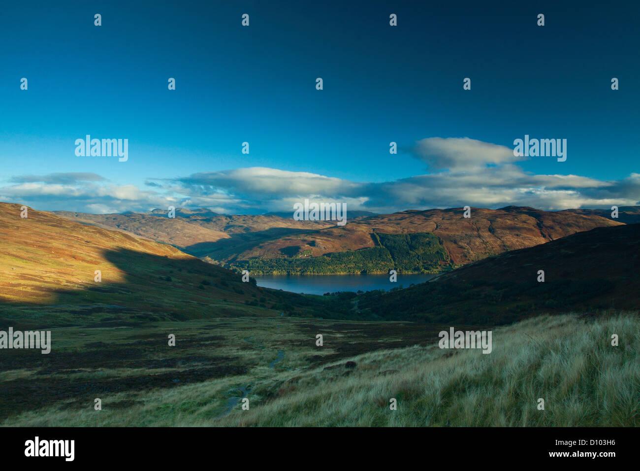 Loch Earn from Ben Vorlich - Stock Image