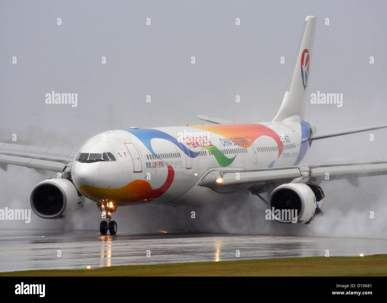 China Eastern Airlines Airbus A330 300 Throwing Up Spray