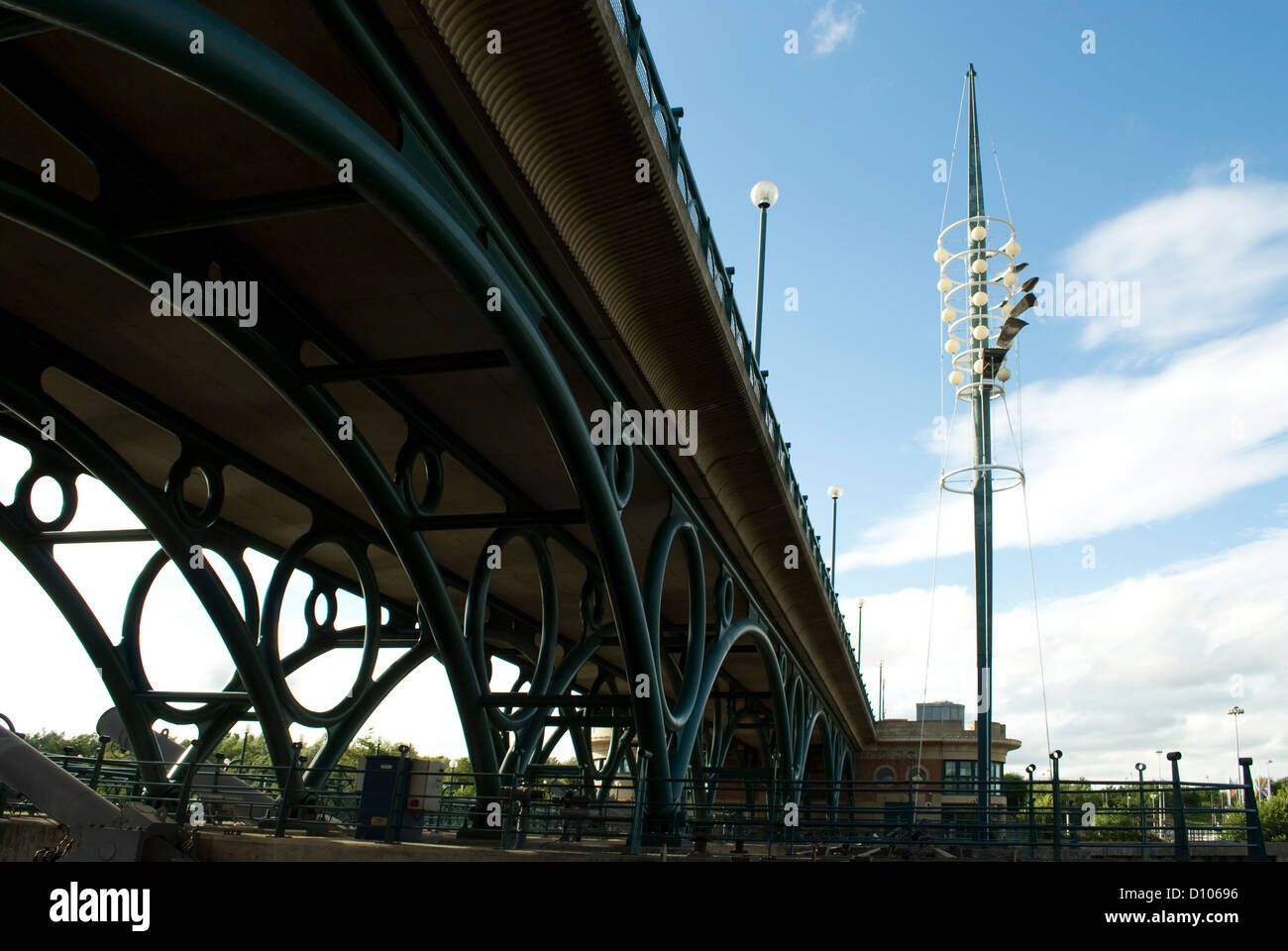 Bridge over Teesside Barrage at Stockton-on-Tees, - Stock Image