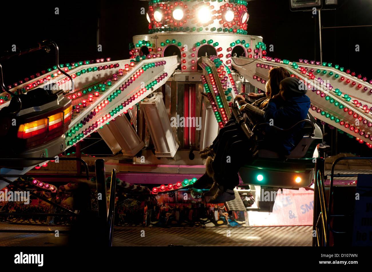 Warwick Mop fair ride - Stock Image