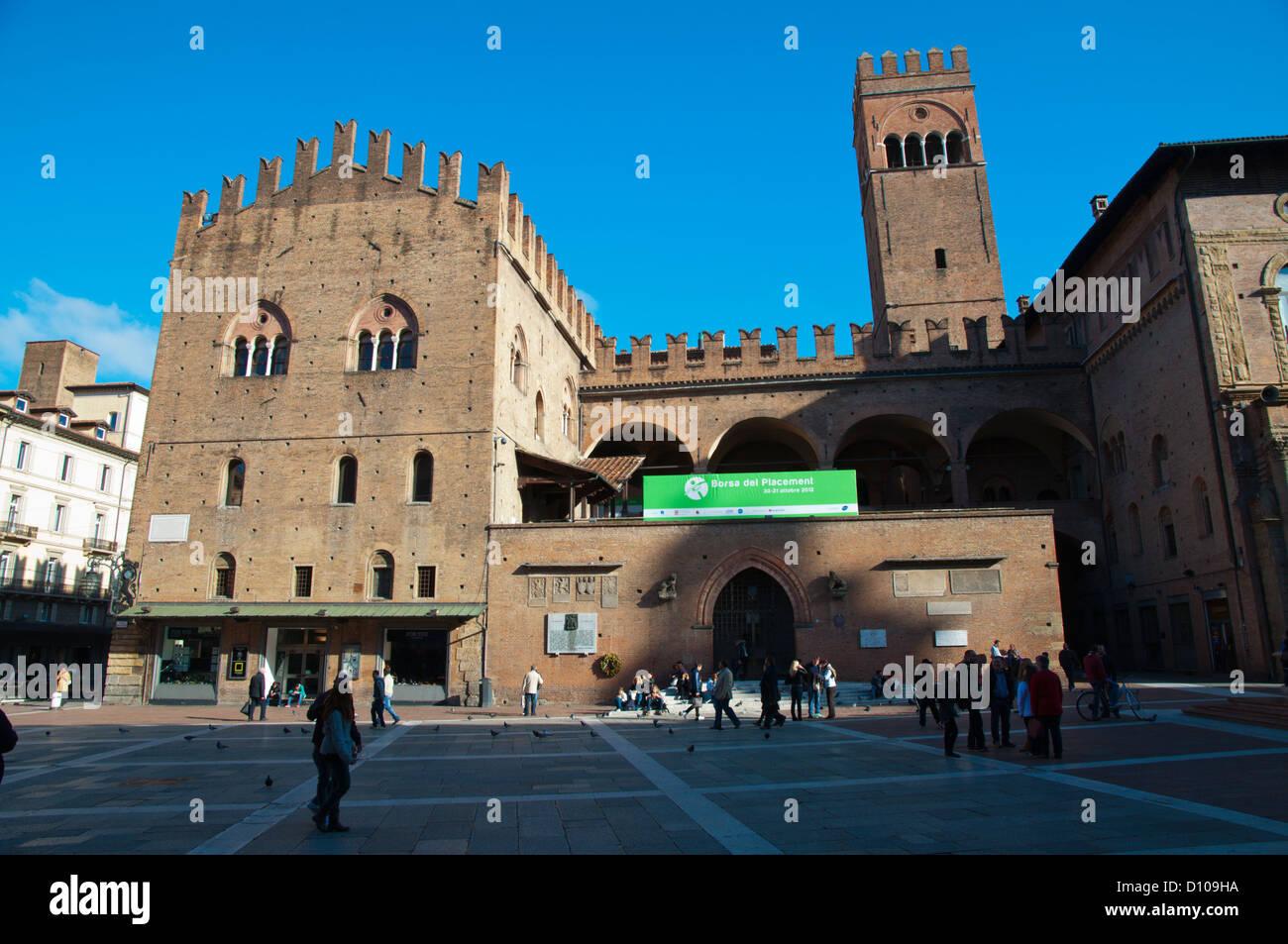 Piazza del Nettuno square centro storico central Bologna city Emilia-Romagna region northern Italy Europe - Stock Image
