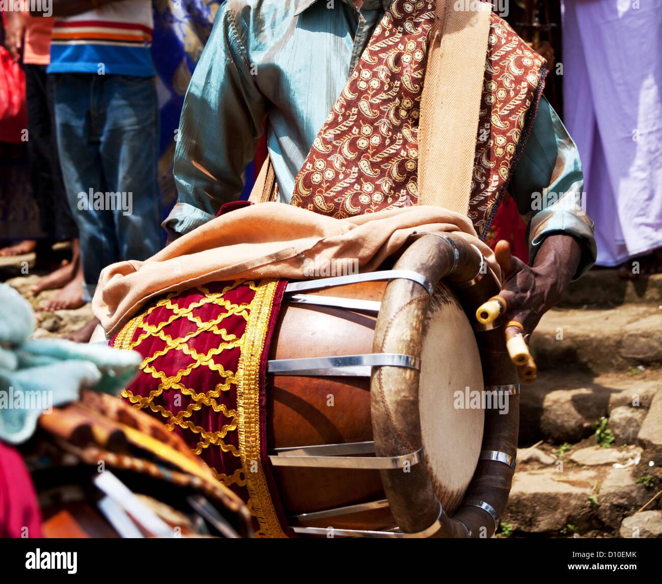 Drum in Lalibela,Ethiopia - Stock Image